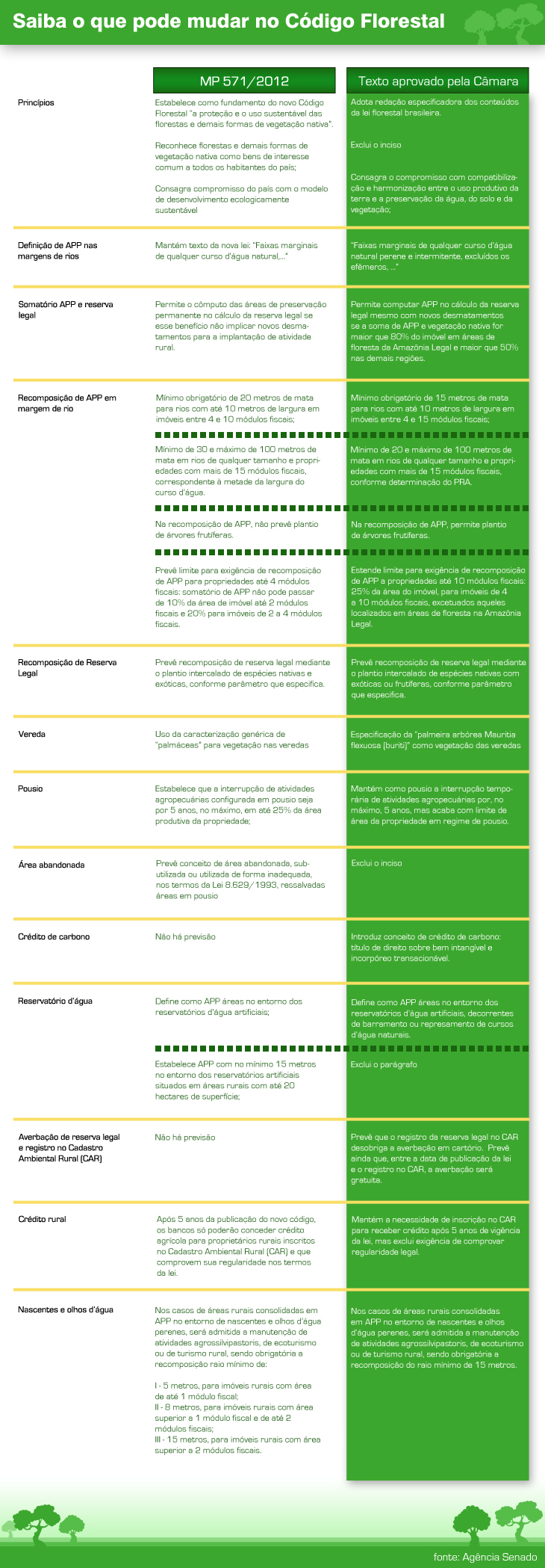 Saiba o que pode mudar no Código Florestal