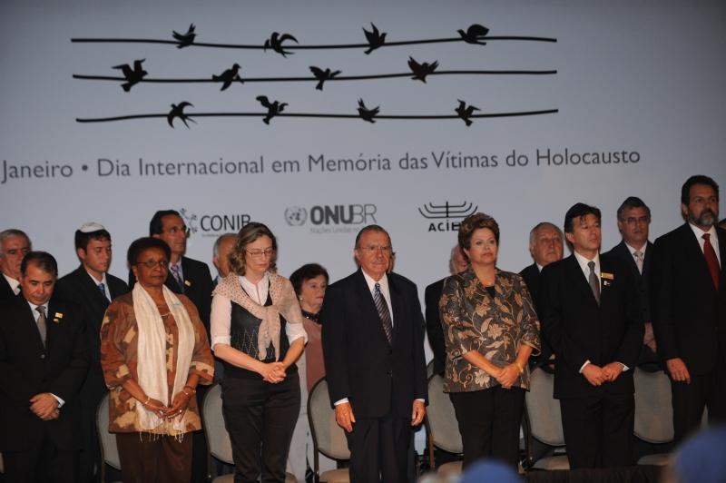 Brasília, 30/01/2013 - Presidenta Dilma Rousseff durante cerimônia do Dia Internacional em memória das vítimas do Holocausto. Foto de Fabio Rodrigues Pozzebom/ABr
