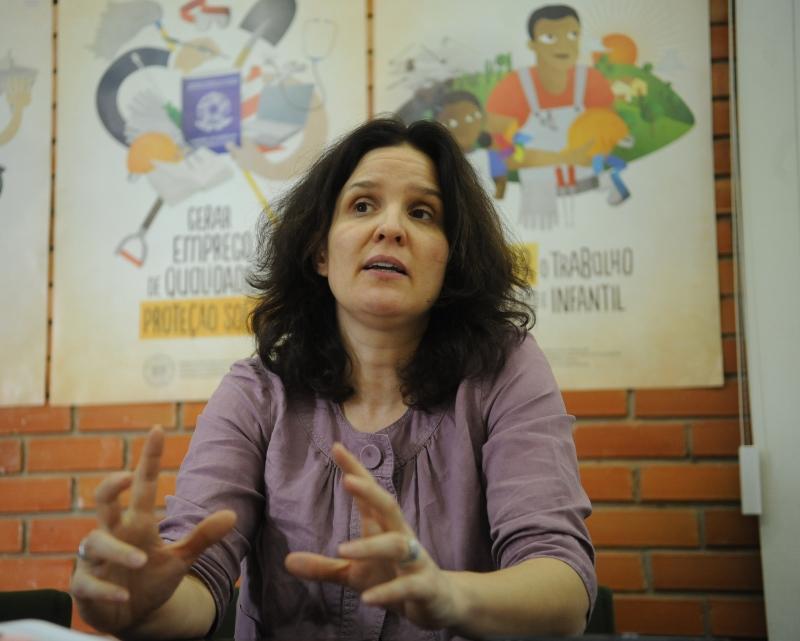 A chefe do Programa Especial de Ação contra o Trabalho Forçado da Organização Internacional do Trabalho (OIT), a alemã Beate Andrees
