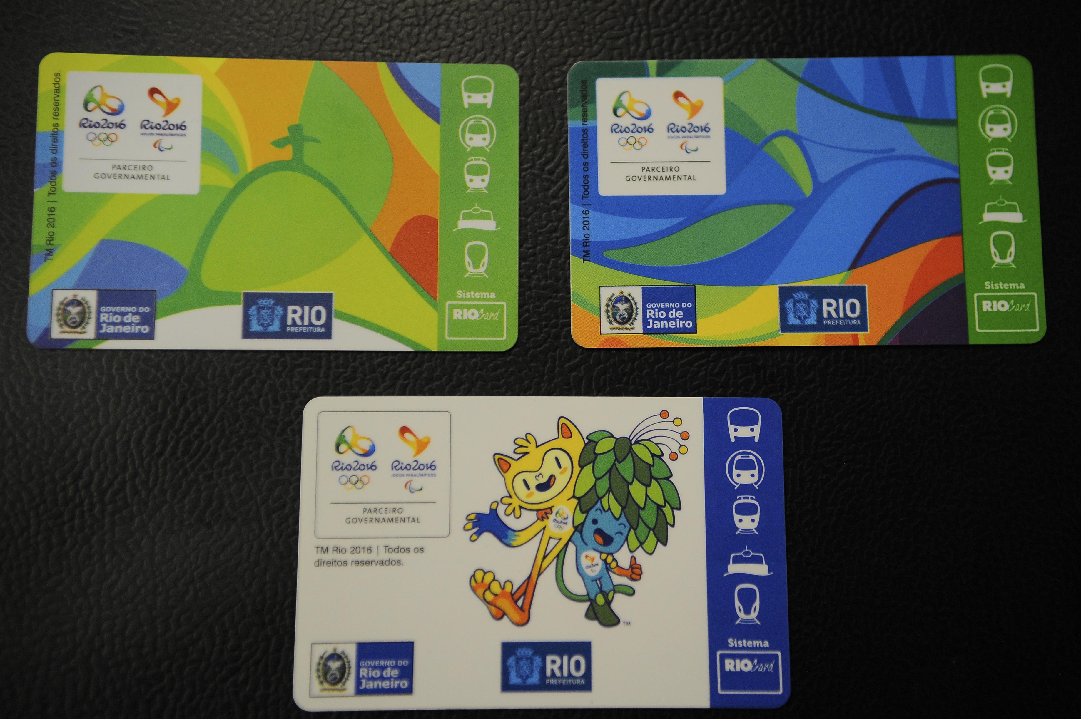 11bd1e26817b5 Rio de Janeiro - Prefeitura do Rio apresenta o cartão RioCard Jogos Rio  2016 que permitirá