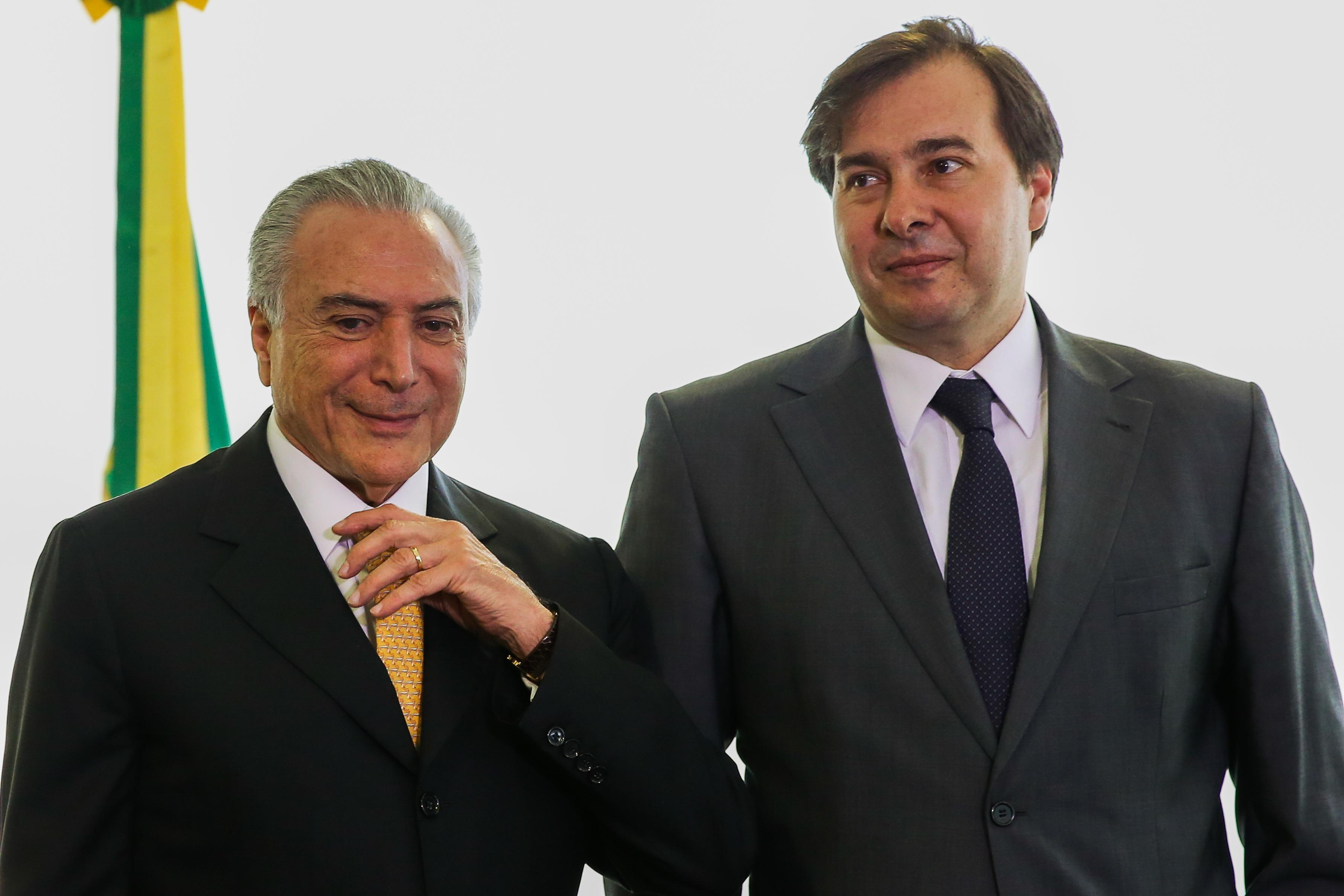 Temer e Rodrigo Maia Foto: Agência Brasil