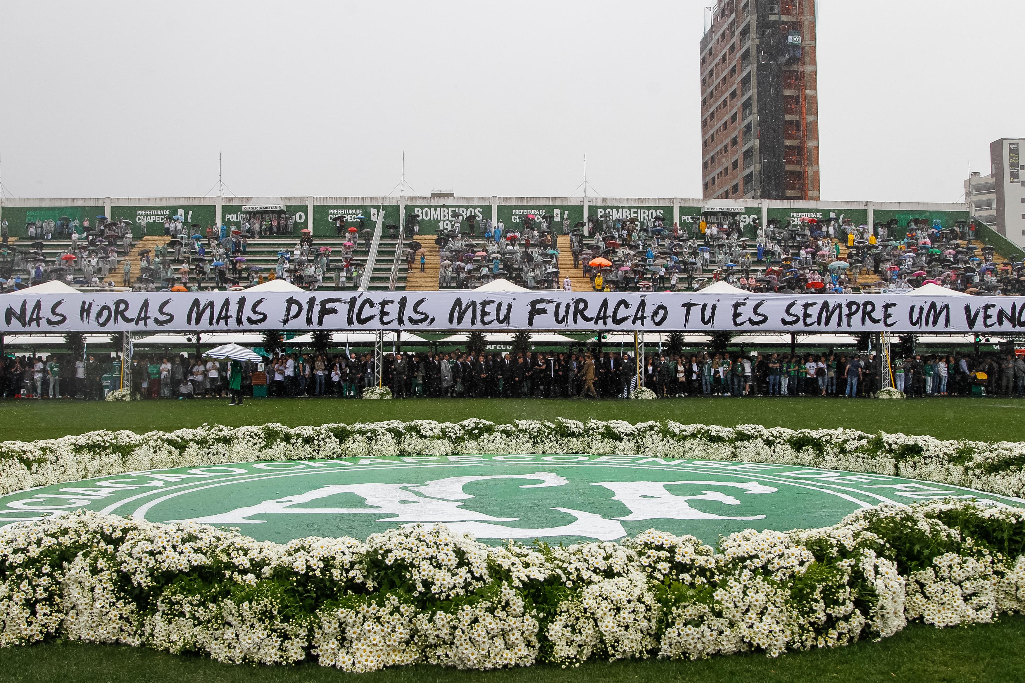 d5c1aeabc Chapecó - SC -Presidente Michel Temer durante Cerimônia em Homenagem às  Vítimas do Acidente com
