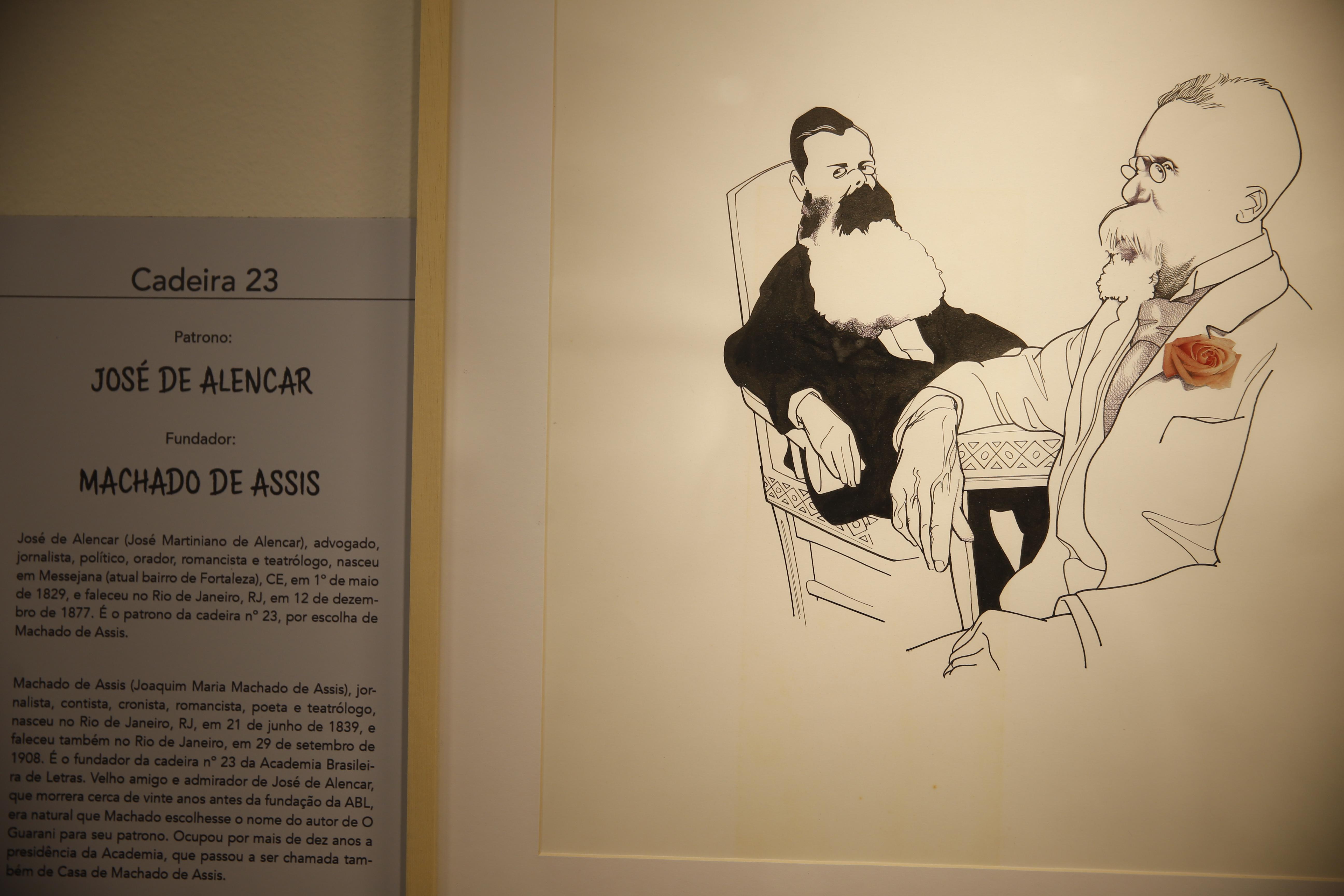Academia Brasileira de Letras faz mostra de caricaturas de