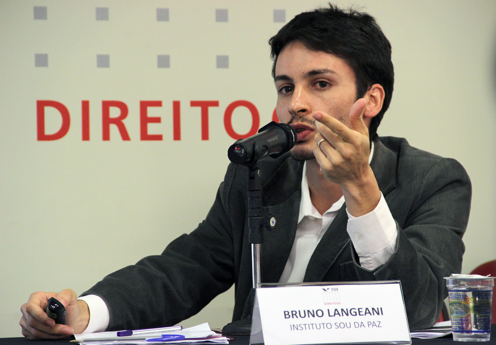 Bruno Lageani, coordenador do instituo Sou da Paz