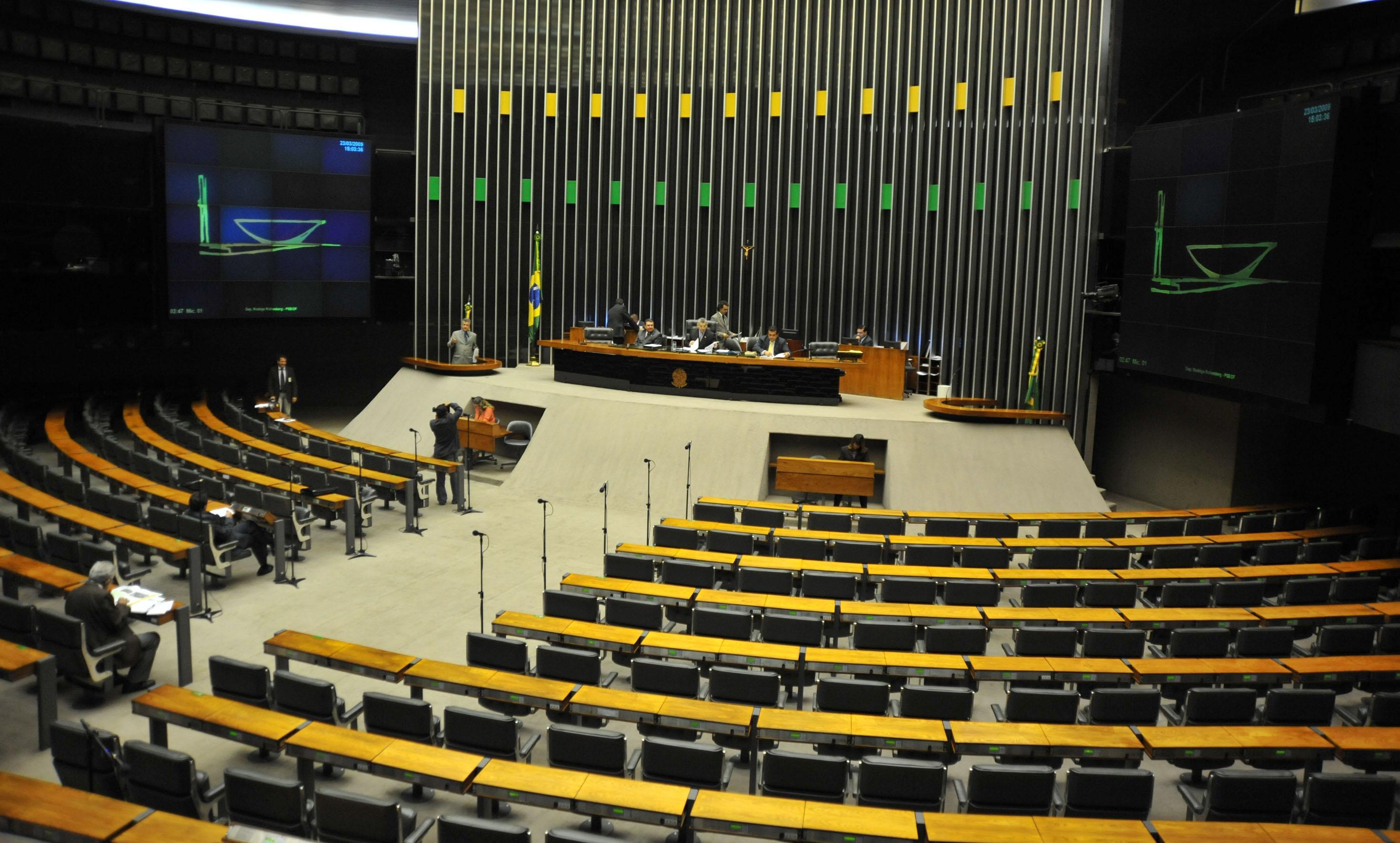 Plenário da Câmara vazio