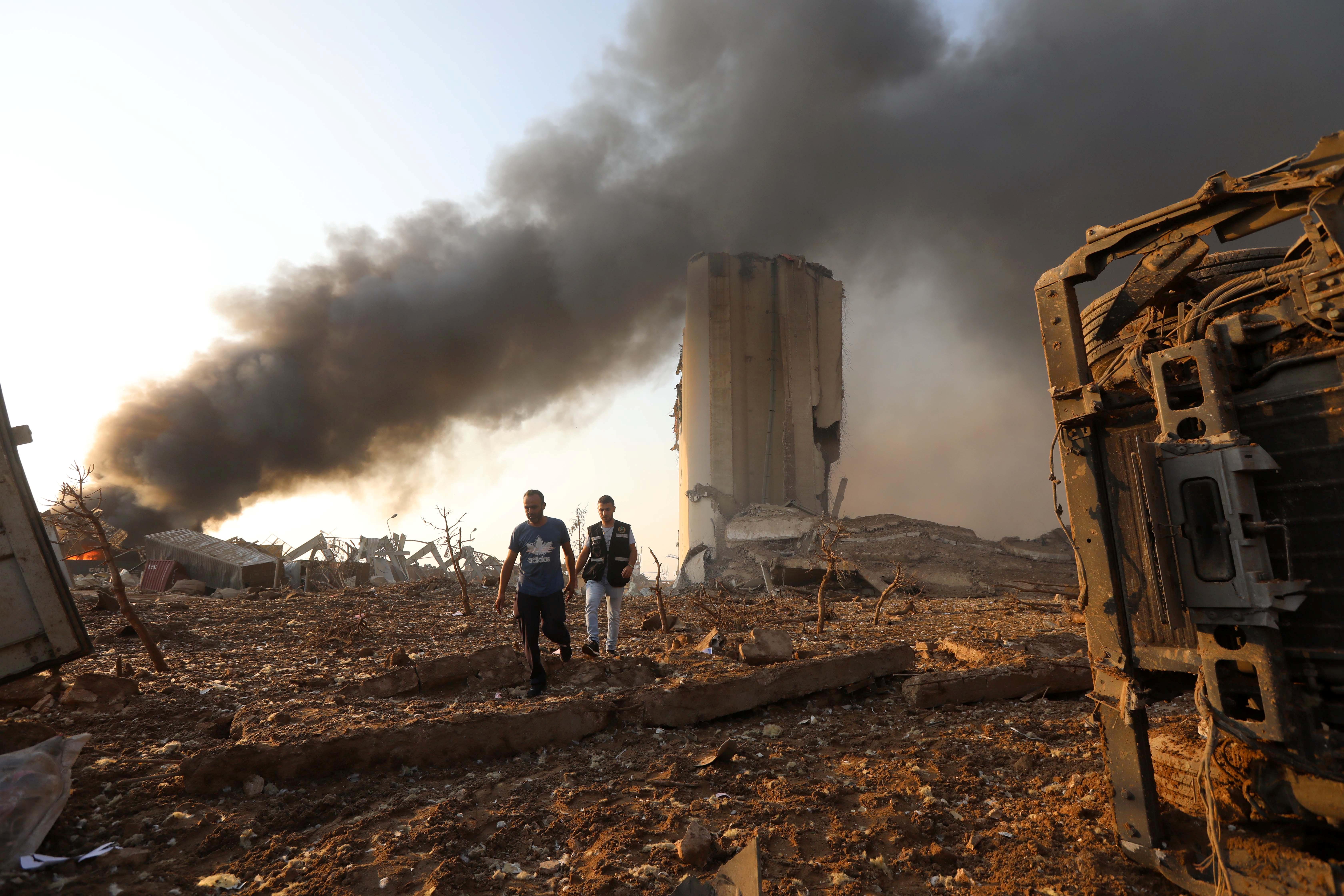 Local da explosão em Beirute