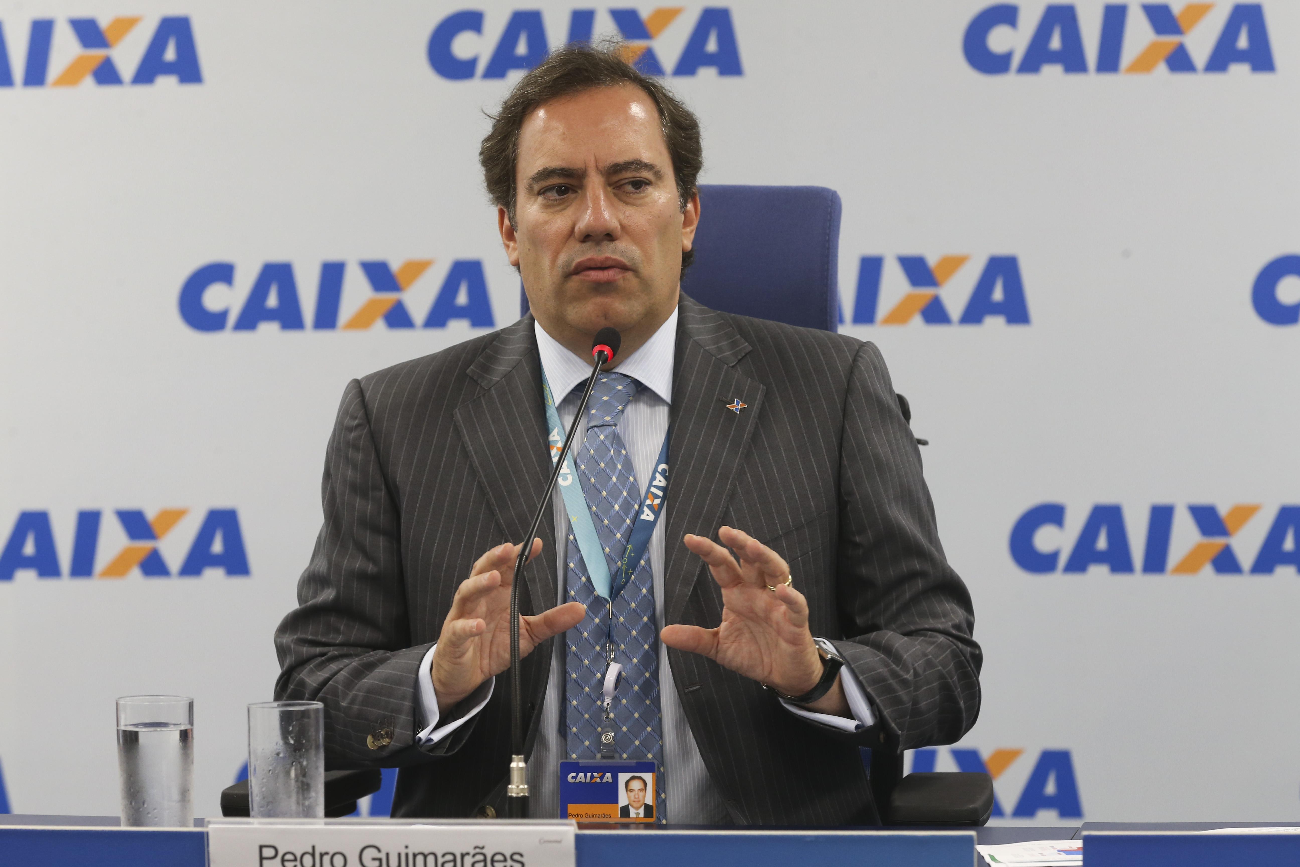 O presidente da Caixa, Pedro Guimarães, anúncia redução das taxas de juros para crédito imobiliário com recursos do SBPE em 2019